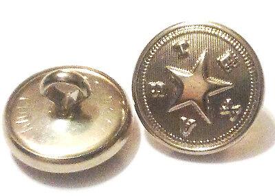 "Gold Plated 5//8/"" /""FD/"" Fire Department Uniform Buttons Waterbury Button Co"