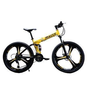 Men/'s Full Suspension Mountain Frame 24-Inch Wheels Bicycles 21 Speeds Boys Bike