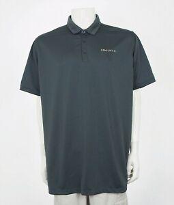 Nike-Golf-Dri-Fit-Century-21-Gray-Tech-Golf-Polo-Shirt-Mens-2XL-XXL