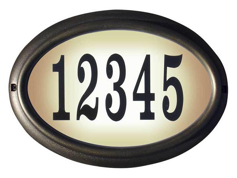 Edgewood, LTO-1302-FB, Oval Iluminado Signo de dirección en francés Marco De Bronce Color