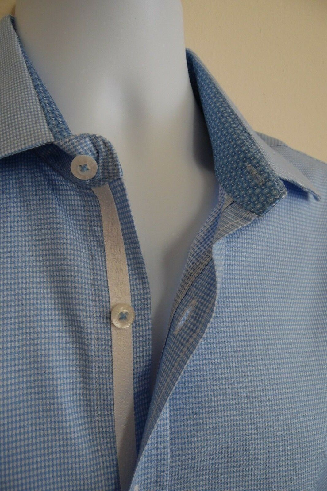 Men's ENGLISH LAUNDRY Long Sleeve Button Down EMBROIDERED Shirt  Large   EUC
