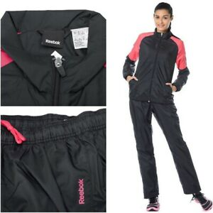 Reebok-Women-039-s-TS-WOVEN-Full-Tracksuit-Sweatshirt-pants-Ladies-Top-Bottoms-S-M-L
