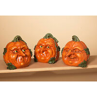 2213790 6.1 Pumpkin Patch Face Halloween Table Figure Decoration Funny Man
