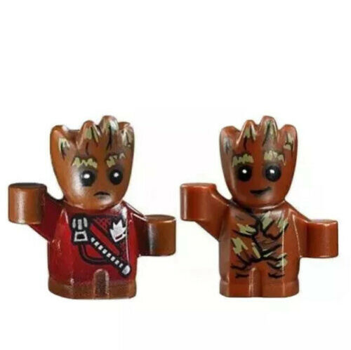 Baby Groot Minifigure Guardians of the Galaxy X2 Figures Fits Lego Toy Figure