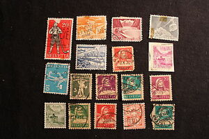 HELVETIA SWITZERLAND EARLY COLLECTION USED/UNUSED POSTAGE STAMP LOT