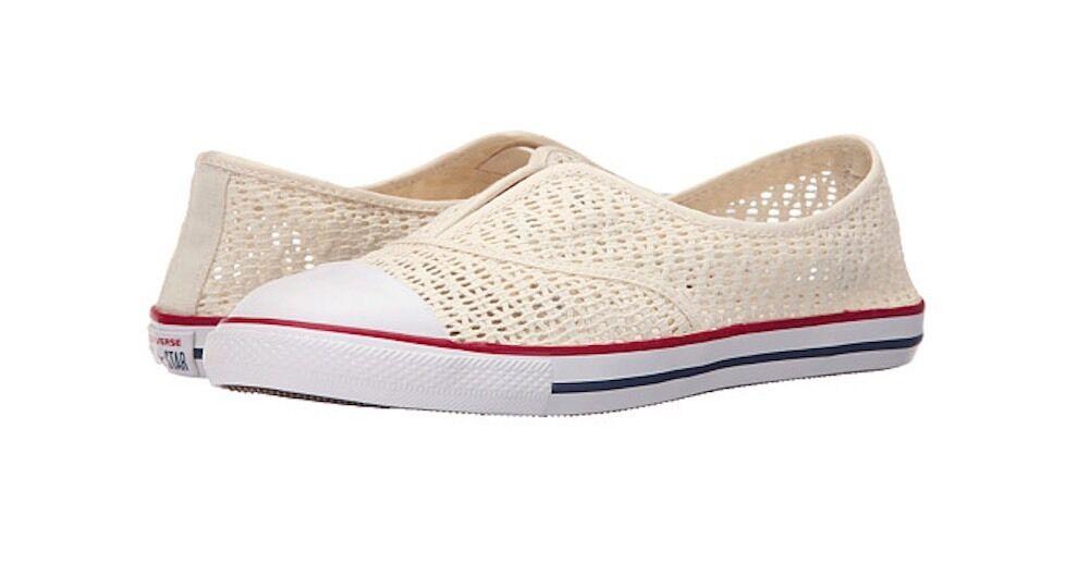 Converse Chuck Taylor All Star Crochet Slip bianca Donna Shoes Size 5