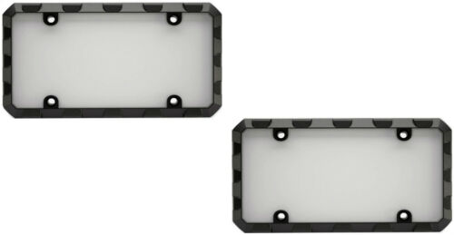 Shield Protectors for Car-Truck 2 Heavy Duty Black Gray License Plate Frames