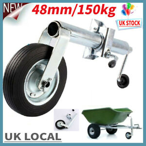 48mm-150KG-Shaft-Jockey-Wheel-With-Clamp-For-Trailer-Caravan-Container-Durable