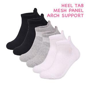 12 Pair Men Women Ladies TRAINER SOCKS Plain Cotton Liner Gym Sports Wear Ankle