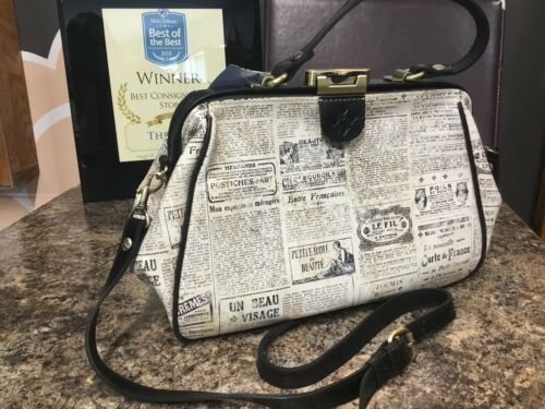 Patricia Nash Shoulder Bag Paris France Newspaper