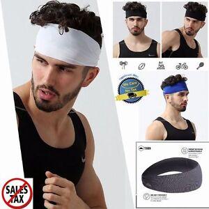 Hair Head Band Sweatband Headband Stretch Mens Wrap Elastic Sports ... e0c7b5ab3b2