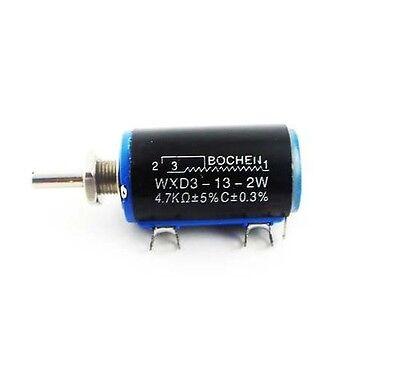 WXD3-13-2W 4.7K ohm Rotary Multiturn Wirewound Potentiometer NEW K9
