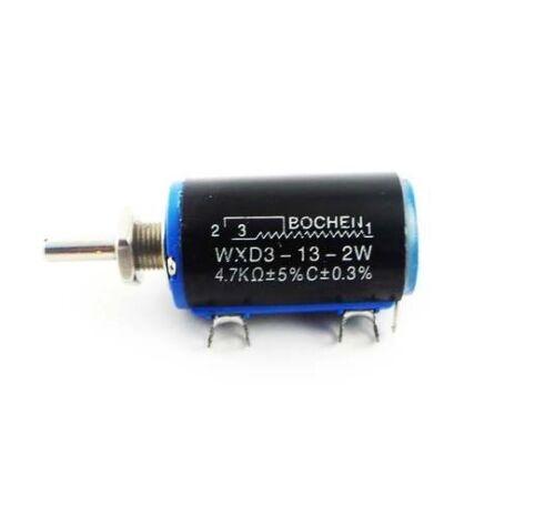 WXD3-13-2W 4.7K ohm Rotary Multiturn Wirewound Potentiometer NEW