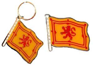Scotland-Lion-Rampant-Brass-Keyring-Fridge-Magnet-Souvenir-Gift-Scottish-Flag