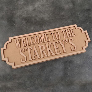 Street-Sign-Welcome-To-The-Surname-Freestanding-Craft-Sign-and-Shapes