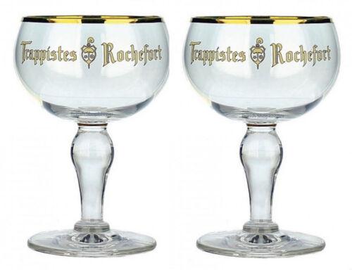 2x33cl Trappistes Rochefort Belgian Beer Glasses Belgium