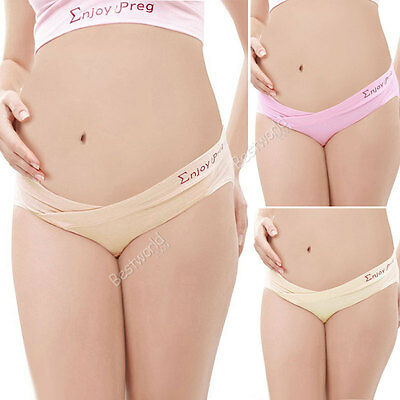 New Maternity Pregnancy Panties Low Rise Waist Brief Underwear Knickers