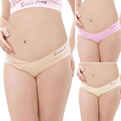 New Maternity Pregnancy Panties Low Rise Waist Brief Underwear Knickers