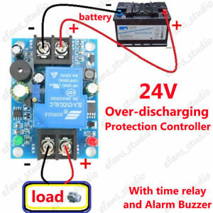 Details about 24V Battery Low Voltage Cut off Switch Controller Excessive  Protection Module