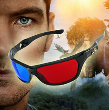 Red Blue Frame 3D Glasses Anti-glare For Dimensional Anaglyph Movie TV DVD Game