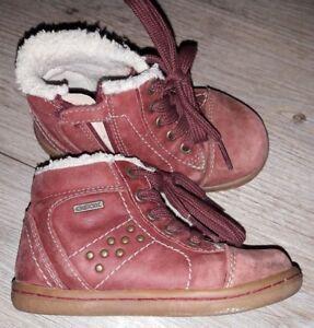 Gr Mädchen Wasserabweisend Stiefel Geox Winter Rot Herbst Details Reißverschluss 23 Zu c3j45ALqR