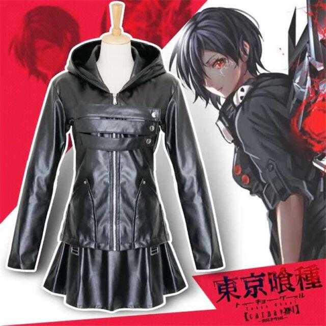 Anime Kirishima Touka Tokyo Ghoul Cosplay Costume Leather Adult Women Halloween