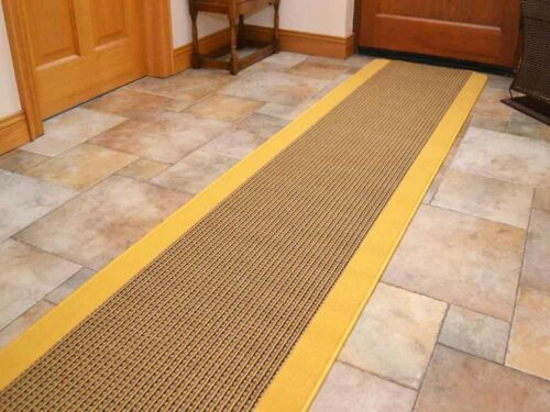 Small Extra Large Gold Washable Non-Slip Long Hall Kitchen Heavy Duty Rugs Mats