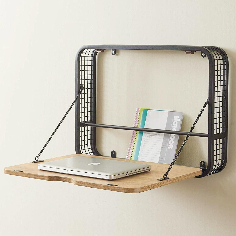 Nuevo Modern Oak Wood Rectangle Theo Wall Unit With Desk Hgda451 For Sale Online Ebay