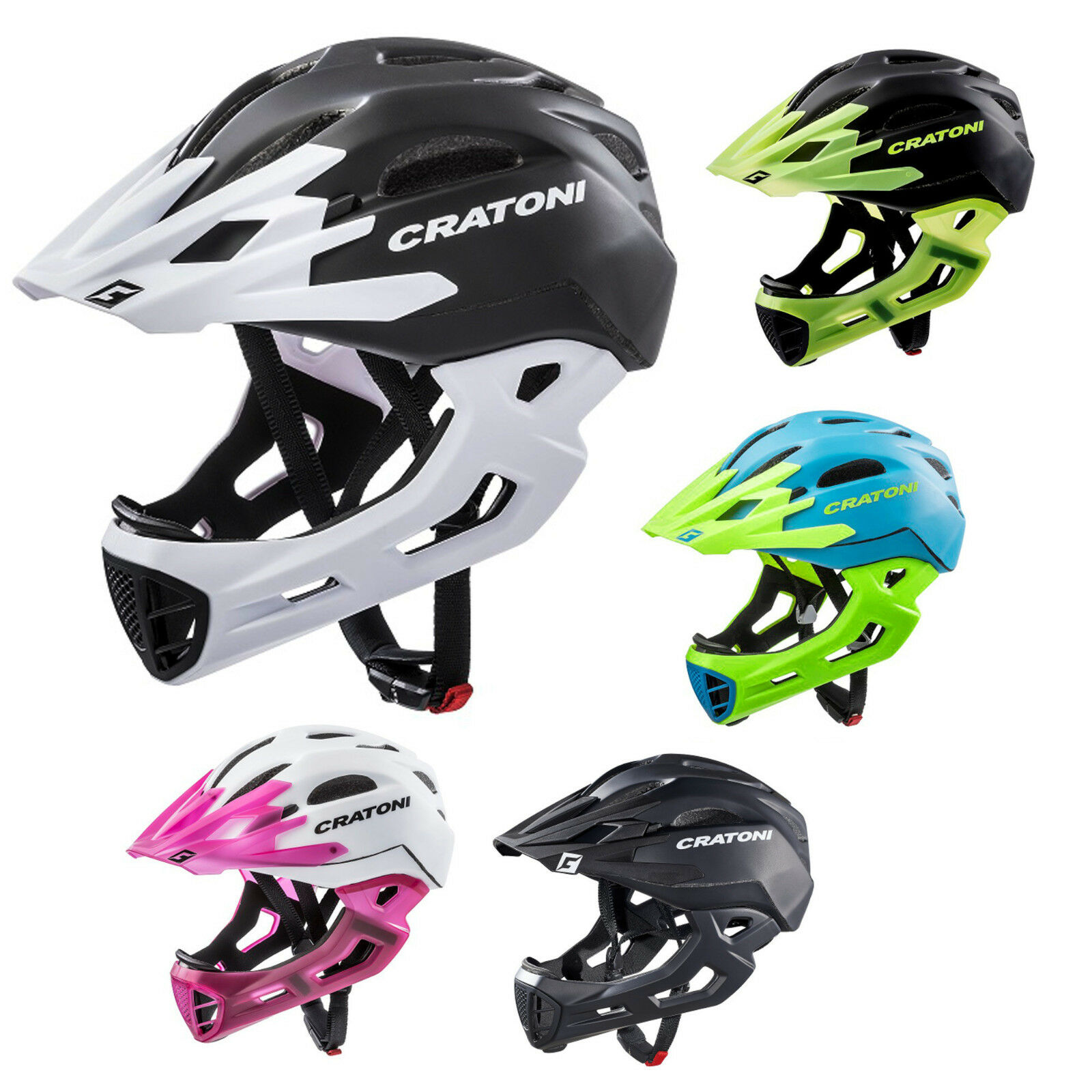 Cratoni C-Maniac modelo 2019 downhillhelm freeride kinnbügel cascos de bicicleta BMX