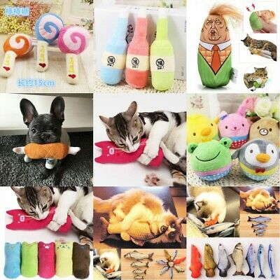 Interactive Fancy Catnip Cat Pillow Toy Pets Teeth Grinding Claws Funny Toys