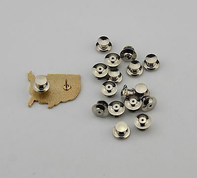 100 Low Profile Locking Pin Backs/Pin Keepers-Best Available