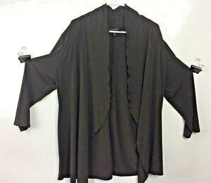 Investments-Women-039-s-Plus-Size-Brown-Long-Sleeve-Kimono-Top-Size-XL