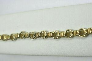 "TIFFANY & Co Estate Bracelet 14K Yellow Gold Circle Link 7"" Heavy 11.5g ($4300)"