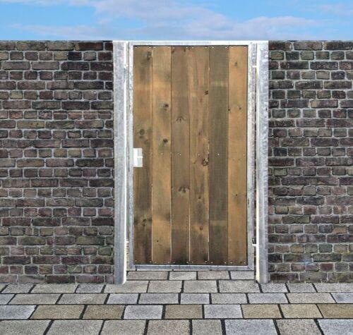 Porte bois porte Hoftor galvanisé avec poteaux /& holzfüllung S HxB 160x125cm