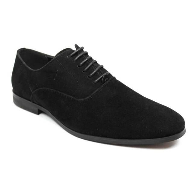 1d19dbae82085c Men's Round Toe Black Suede Dress Shoes Lace up Oxfords by Azar 7 U.s D  Medium for sale online | eBay