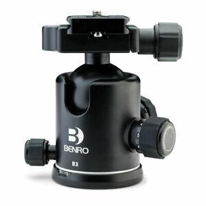 Benro B3 tête friction Ball Joint + PU70 Plaque Capacité 18 kg