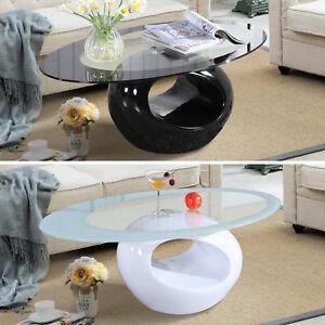 Modern-High-Gloss-Glass-Oval-Coffee-Table-Living-Room-Furniture-Black-White