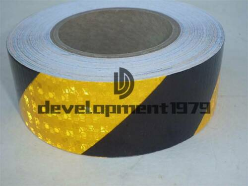 """Sticker Silver Red  1-3M 2/"""" 5cm Reflective Safety Warning Conspicuity Tape Film"""