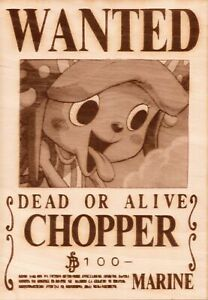 One Piece - Chopper Wooden Wanted Poster