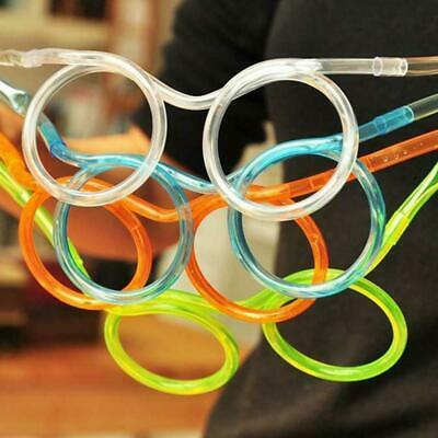 1x Drinking Straw Glasses Party Toy Boy Girl XMAS GIFT Christmas Stocking Filler