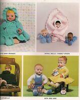 Baby Doll Pattern - Craft Books: 1208 Crochet Dolls 'n Delights Crocheting