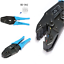 Insulated Terminals Ratchet Tool Crimping Pliers AWG 22-10 0.5-6.0mm HS-30J Type