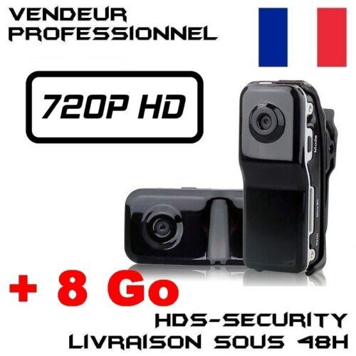 CAMERA SPORT MD80B-HD HD 720P MICRO SD 8 GO 1280x720 VIDEO DETECTION MD80BHD