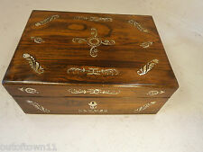 Antique Rosewood , Mother of Pearl  Jewellery Box ref 503