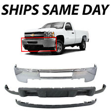 New Chrome Front Bumper Face Valance Kit For 2011 2014 Chevy Silverado 2500 3500 Fits More Than One Vehicle