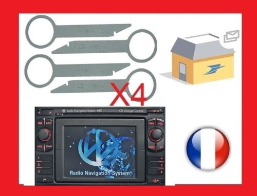 cles outils extraction démontage autoradio VW Volkswagen MFD