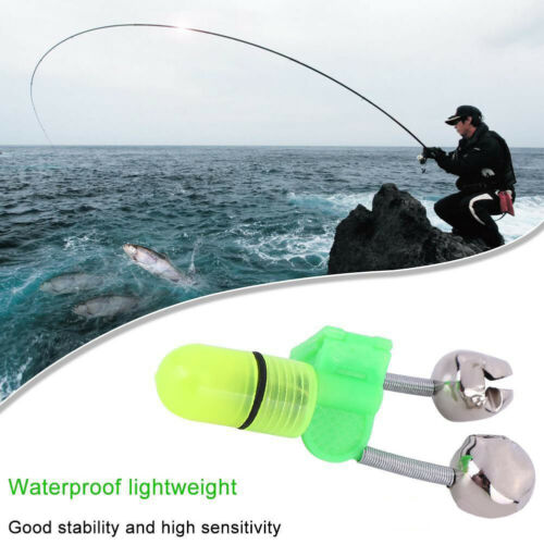 AU/_ Outdoor Night Fishing Accessory Rod Tip LED Light Fish Bite Double Alarm Bel