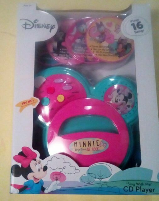 DISNEY MICKEY MOUSE /& FRIENDS,SING WITH ME,CD PLAYER,4 CDs,16 SONGS,KIDS 3+,NEW