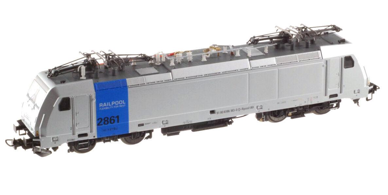 PIKO 97750 SNCB NMBS RAILPOOL E-Lok 2861 ARGENTO/BLU ep6 AC DIGIT Limit NUOVO + OVP