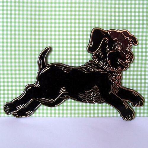 10 pc Black Running Dog Vintage Nursery Rhyme Wall Plaque